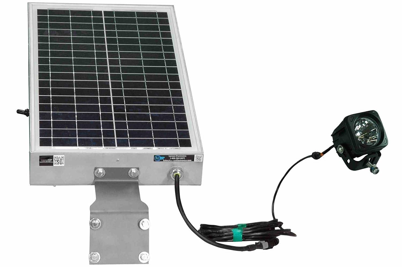 ザラーソンエレクトロニクス0815o3j92ia Solar Powered 10 W LEDライト – 12時間実行時間 – Day / Night光電セルまたはモーションセンサー( -motion-60-degree flood-external ) B00MQD530Q