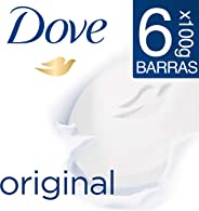 Dove 6pack Dove Jabón Barra Blanca 100g, color, 100 gram, pack of/paquete de