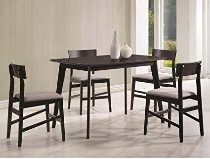 Amazon Com Coaster 5 Piece Dining Set In Gray Kitchen Dining