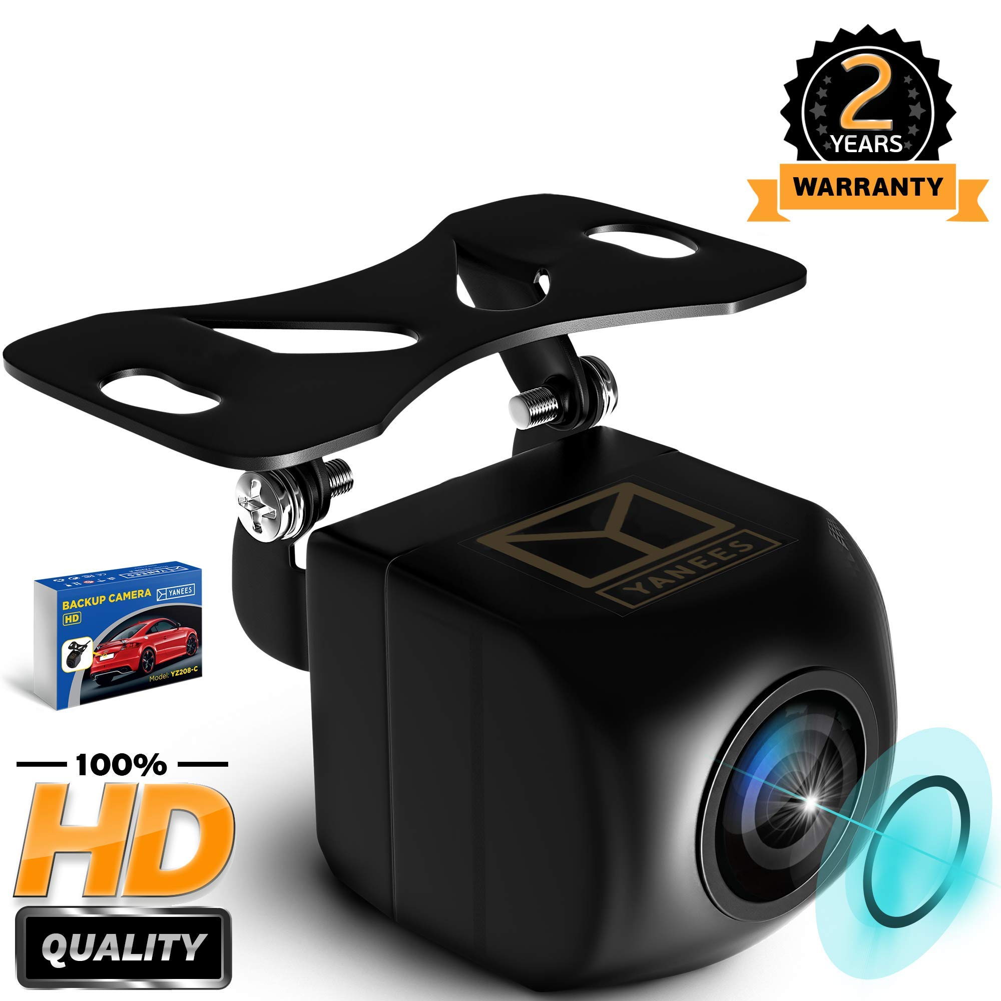 Yanees Backup Camera Night Vision - HD 1080p - Car Rear View Parking Camera - Best 170° Wide Angel Reverse Auto Back Up Car Camera Fits All Vehicles by YANEES