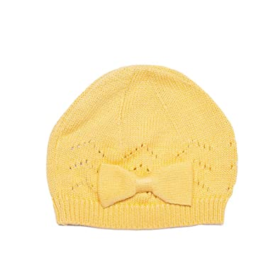 Viddia Pointelle Knitted Hat with Bow 9a830d4bfd8