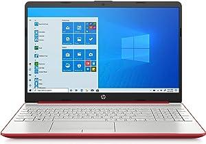 HP 15.6 inch HD LED Display Laptop 2020 (Intel Pentium Gold 6405U Processor, 4 GB DDR4 RAM, 128 GB SSD, HDMI, Webcam, WI-FI, Windows 10 S) Scarlet Red (Renewed)
