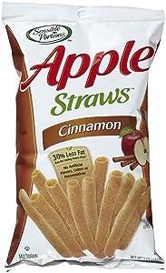 Sensible Portions Cinnamon Apple Veggie Straws 5 oz Bags - Pack of 4