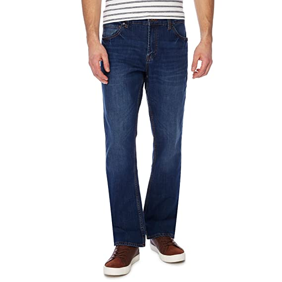 87104ee7527 Red Herring Men Blue Mid Wash Bootcut Jeans: Red Herring: Amazon.co ...