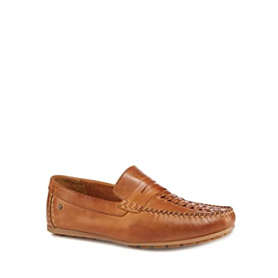 Base London Palmer Leather Loafers in Tan cheap fast delivery find great for sale discount official high quality for sale discount good selling Hlacg3