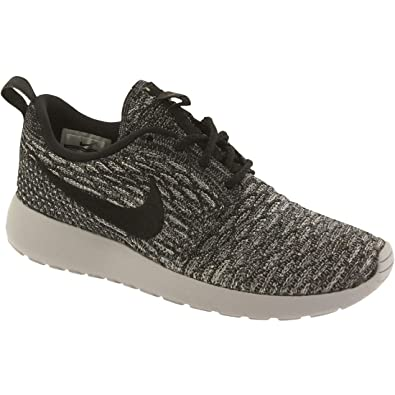 8209851677a8 Womens Nike Roshe Flyknit Running Shoes Cool Grey White Black