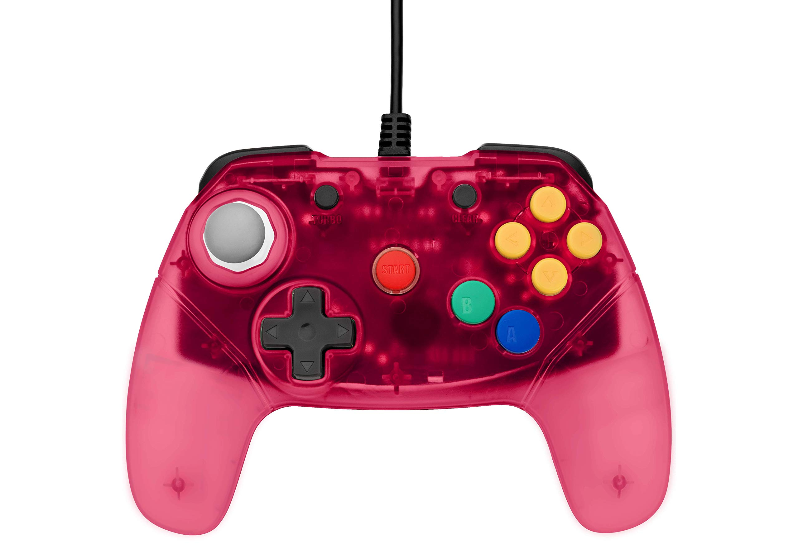 Retro Fighters Brawler64 Next Gen N64 Controller Game Pad - Nintendo 64 - Red