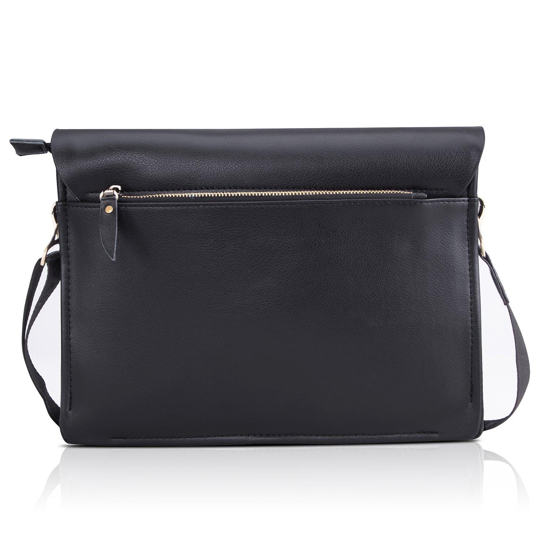 Amazon.com  Bienna Men Bags Crossbody Shoulder Bag Black Genuine Leather  Business Messenger Bag for Work Travel Office-Horizontal  Computers    Accessories 3ea8f1705e53c