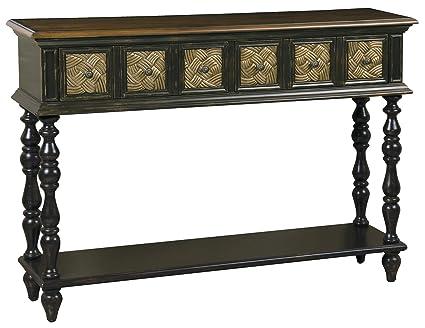 Bon Pulaski Priya Console Table, 48 By 33 By 12 Inch, Dark Brown/