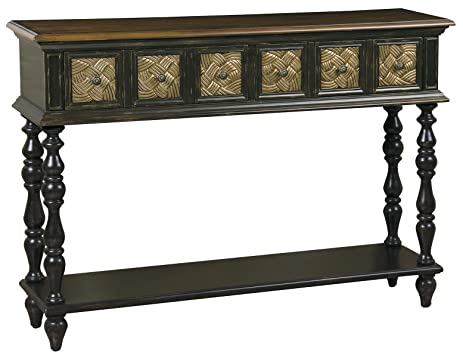 Pulaski Priya Console Table, 48 By 33 By 12 Inch, Dark Brown/