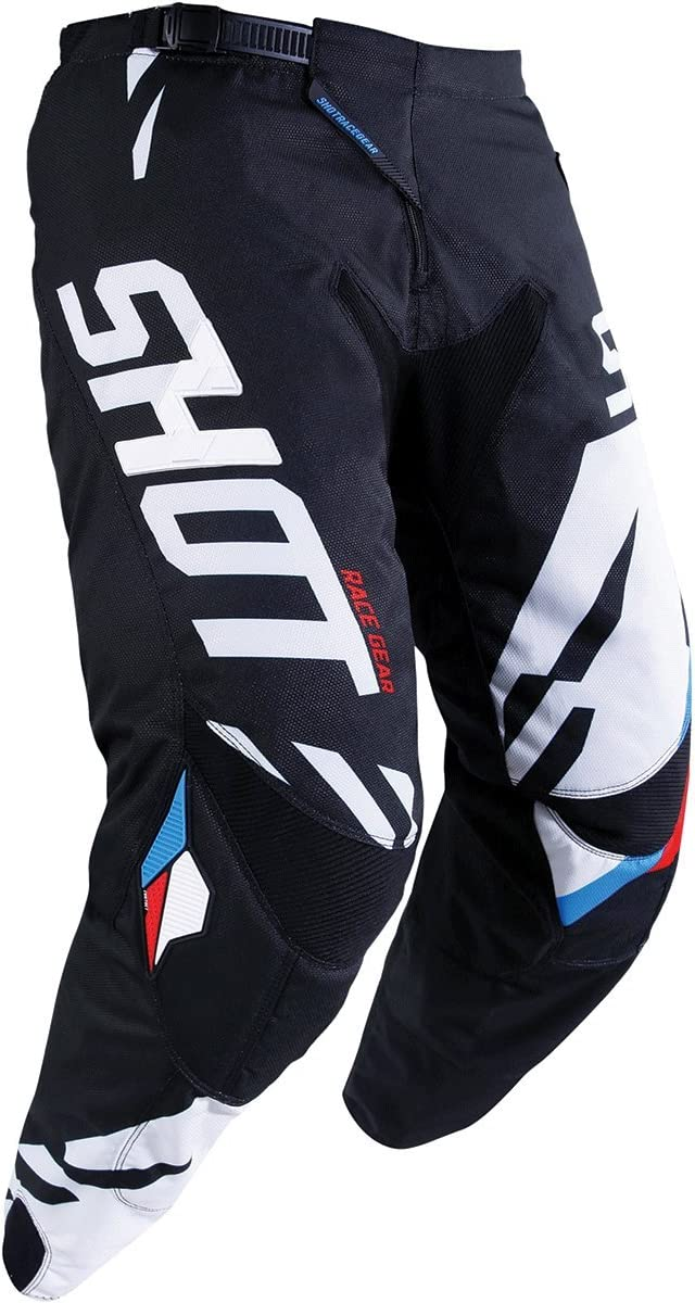 Shot Score Mens Off-Road Motorcycle Pants Black//White 30