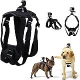 BULUSI 犬用フェッチ犬ハーネスマウントfor GoPro Hero 5 Session / 4 Sliver / 3+ / 3 Black / 2 調節可能チェストストラップカメラアクセサリーキット