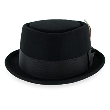 Belfry Pork Pie Men s Women s Vintage Style Dress Rocker Fedora Hat 100%  Pure Wool 33445a2e85b1