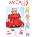McCall Pattern Company M7066 Clothes and Accessories for 11-Inch to 12-Inch and 15-Inch to 16-Inch Baby Doll Sewing Template, One Size