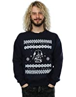 Star Wars Men's Christmas Darth Vader Fair Isle Sweatshirt