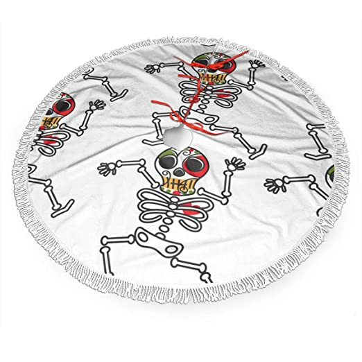 UKFaaa Falda de árbol de Navidad, Esqueleto Mexicano de los Muerto ...