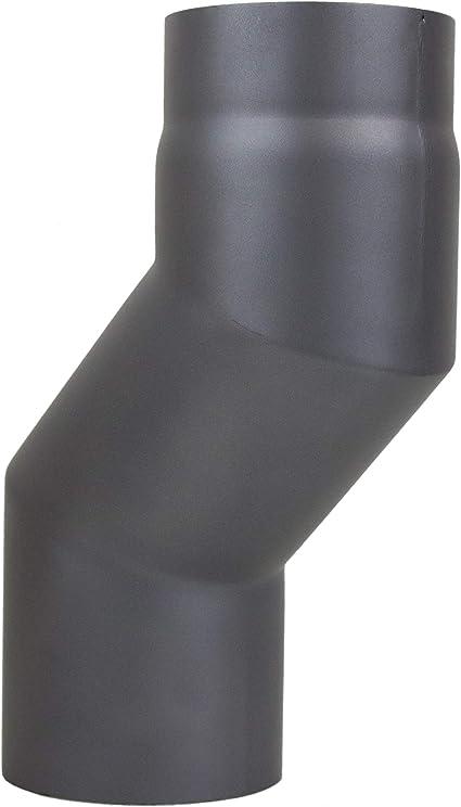 lanzzas humo Tubo estufa Tubo garant/ía 1000/mm de di/ámetro 130/mm Negro