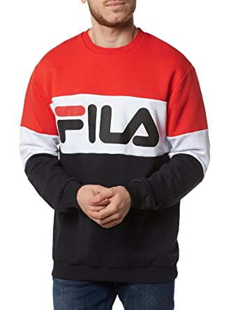 Fila Sweat Straight Blocked Red WhiteBlk