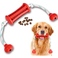 Dog Chew Toothbrush Toy Semishare 2021 Upgraded Natural Rubber Dog Brushing Stick Puppy Chew Rope Toy Cleaner Dog…