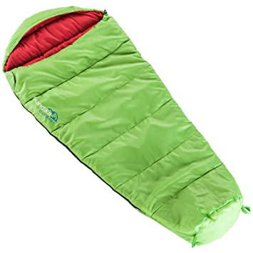 skandika - Saco de dormir junior, color verde: Amazon.es: Deportes y aire libre