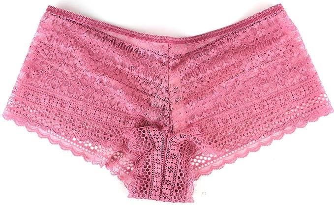 34e3041480c Victoria s Secret Cotton Lingerie Allover Lace Shortie Panty Rose Mauve  (X-Small)