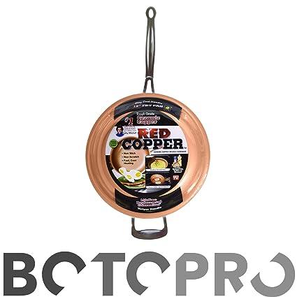 BOTOPRO - Sartén Red Copper 24cm, la sartén Que no se Raya y Nada se ...