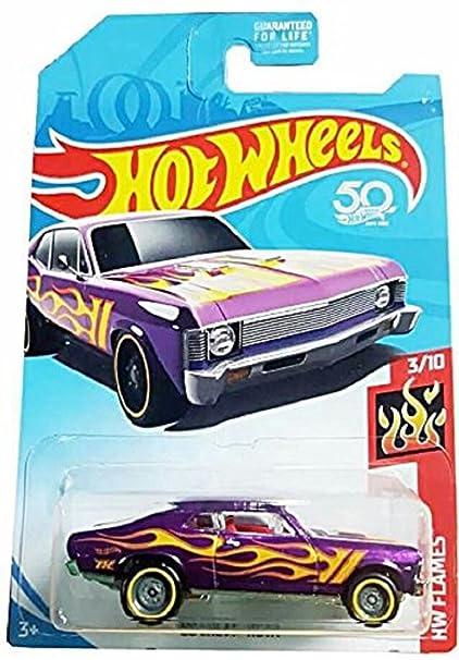 Amazon Com Hot Wheels 2018 Hw Flames 68 Chevy Nova Purple