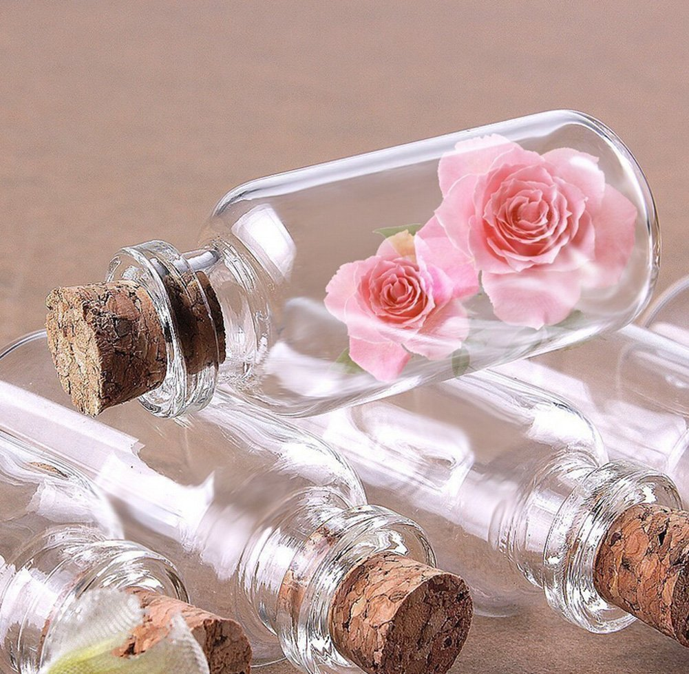 Amazon.com: Funyye 100 PCS 14X30mm Clear Small Drift Bottles Tiny ...