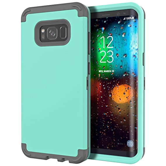new arrival 81102 59d2f Galaxy S8 Case, WeLoveCase Heavy Duty Drop Protection Armor Defender Case  Soft Shockproof Silicone Bumper + High Impact Hard PC 3 in 1 Hybrid ...