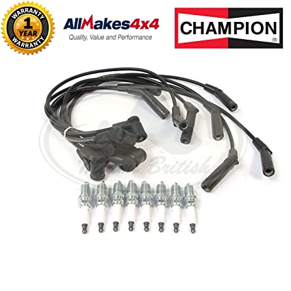amazon com: land rover nlp100320 spark plug and ignition wire kit for  discovery 2 and range rover p38 (bosch engine): automotive
