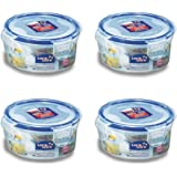 (Pack of 4) LOCK & LOCK Airtight Round Food Storage Container, Snack box 10.14-oz/1.27-cup
