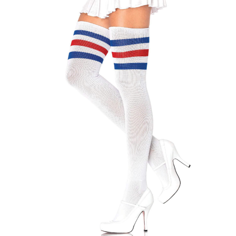 Leg Avenue Women's Hosiery Black/White One Size 660522007