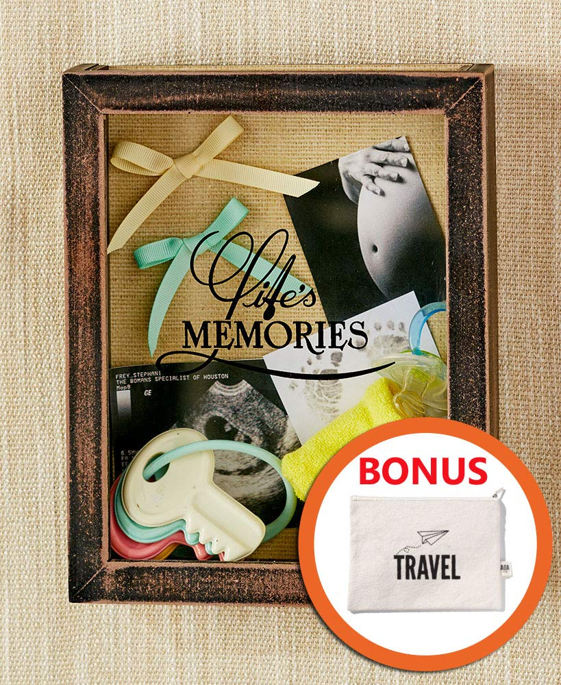 Memento Frame Perfect to Display Memorabilia Pins HM Homes Life Memories Shadow Box Frame with Slot Top Loading Shadow Box Tickets /& Photos Awards Medals