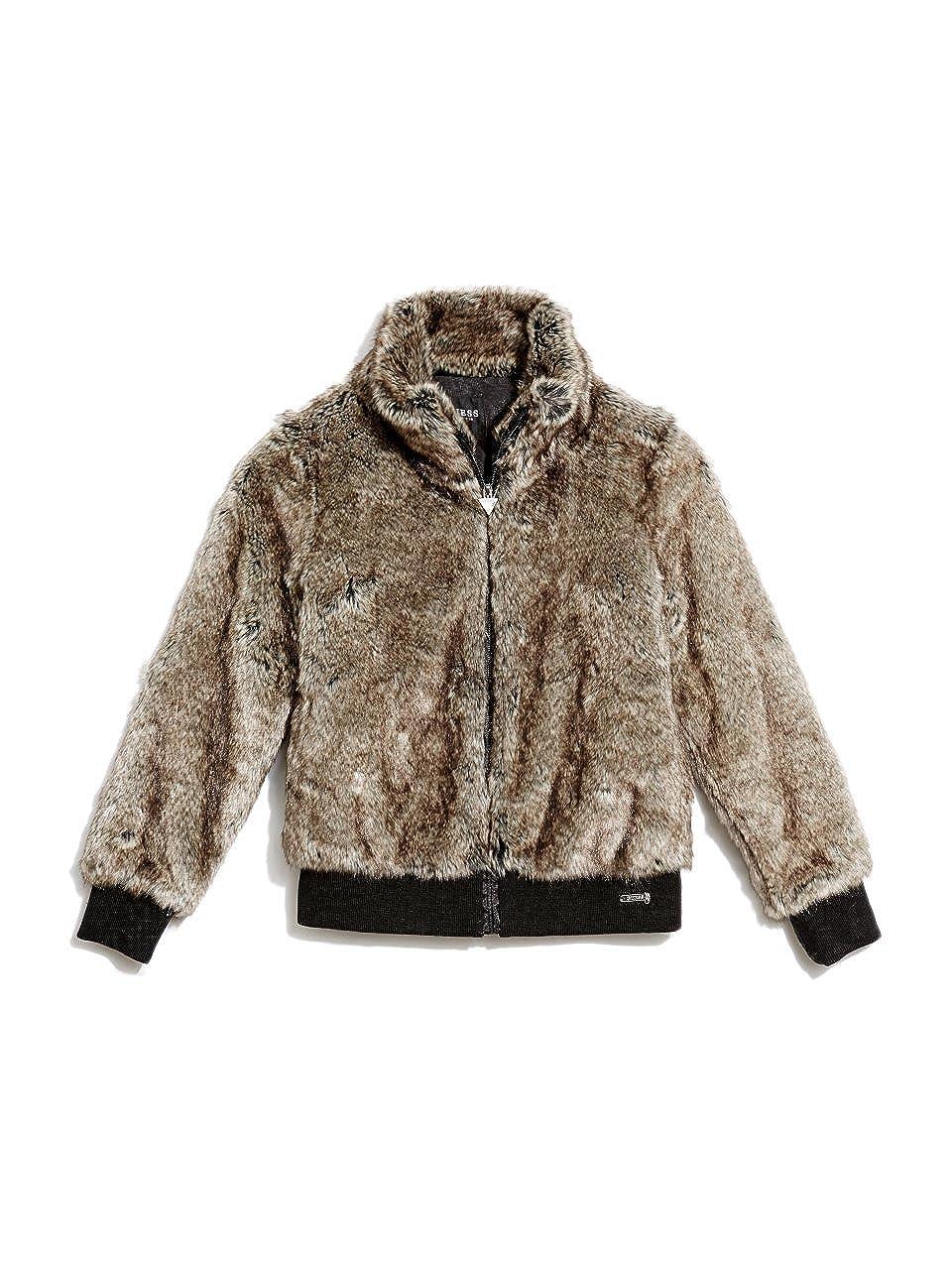 Turtle Dove Multi Guess Girls Big Faux-Fur Jacket 14