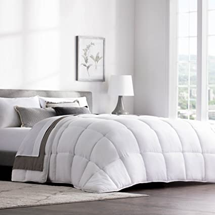 weekender quilted down alternative hotel style comforter use as duvet insert or stand - Hotel Style Bedding