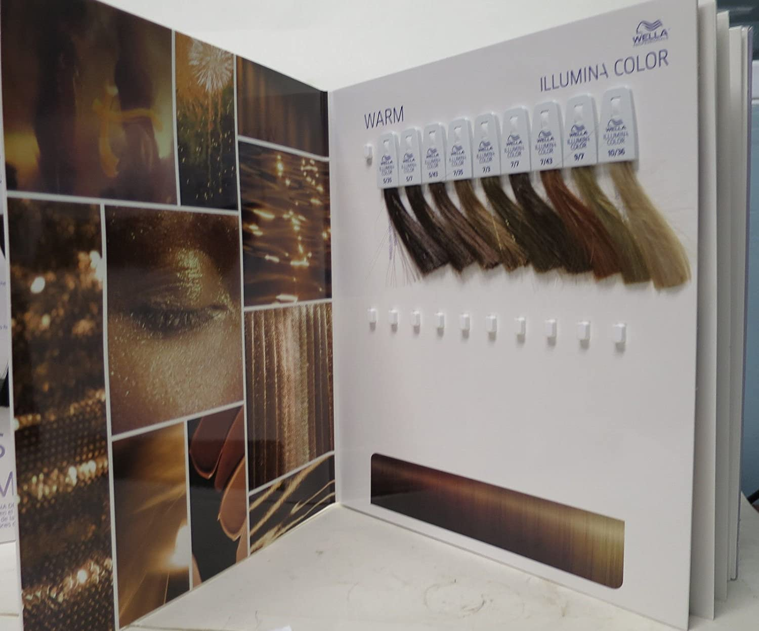 amazoncom wella professionals illumina hair color swatch book binder beauty - Hair Color Book