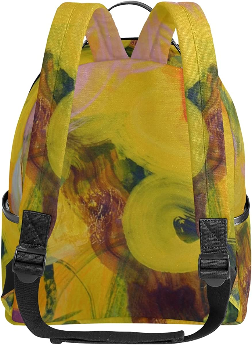 Mr.Weng Thick Line Painting Printed Canvas Backpack For Girl and Children