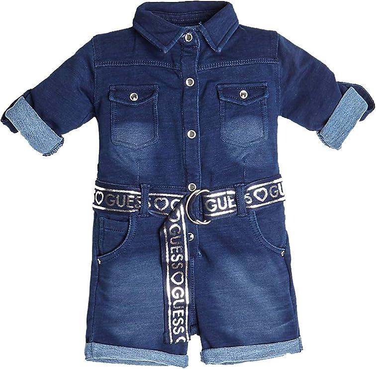Guess Tuta Intera Corta Bambina Blu Indigo: Amazon.it