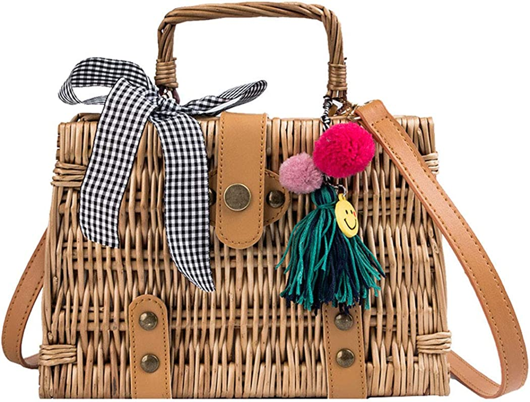 MILATA Summer Rattan Bag...