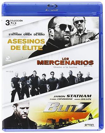 Pack: Asesinos De Élite + Los Mercenarios + Blitz Blu-ray: Amazon.es: Jason Statham, Clive Owen, Sylvester Stallone, Jet Li, Paddy Considine, Aidan Gillen, Gary McKendry, Sylvester Stallone, Elliott Lester, Jason Statham, Clive