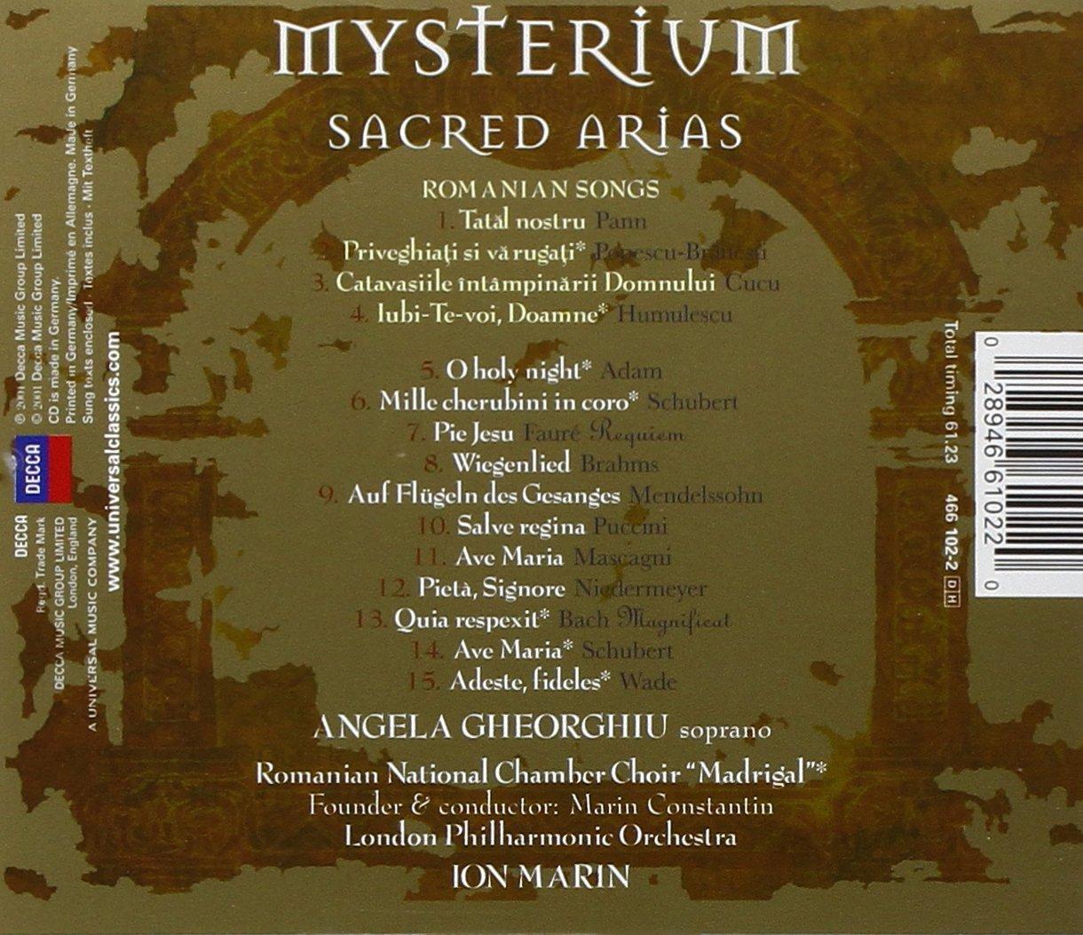 Angela Gheorghiu - Mysterium ~ Sacred Arias by DECCA IMPORT