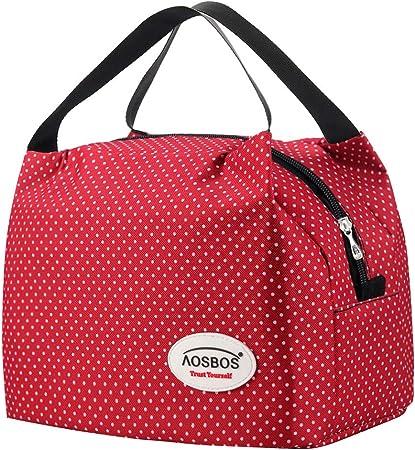 Aosbos Borsa Termica da Pranzo al Sacco Riutilizzabile Lunch Bag Donna Uomo