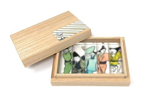 toumei palillos y reposa cubiertos (japonés Kimono tradicional Set de regalo de 5 (odoriko