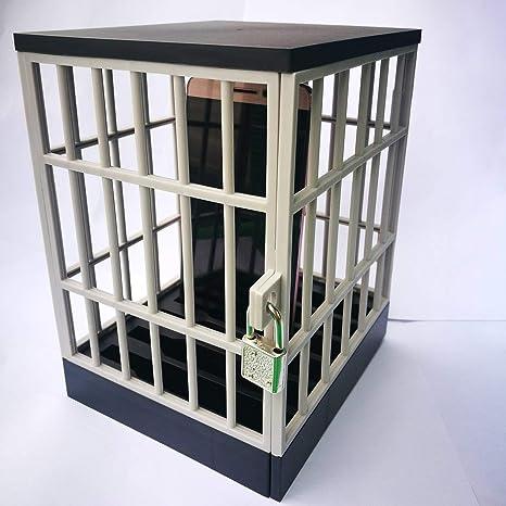 Lorenlli Mobile Prison Cell Lock Security Smartphone Cage Storage ...