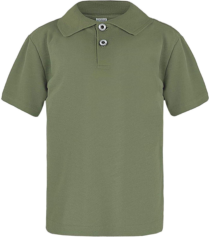 Kids Basic Pique Polo Shirt Boys Girls Short Sleeve Top Casual T Shirt
