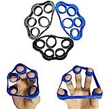 Airisland Finger Stretcher Hand Resistance Bands Hand Extensor Exerciser Finger Grip Strengthener Strength Trainer Gripper Se