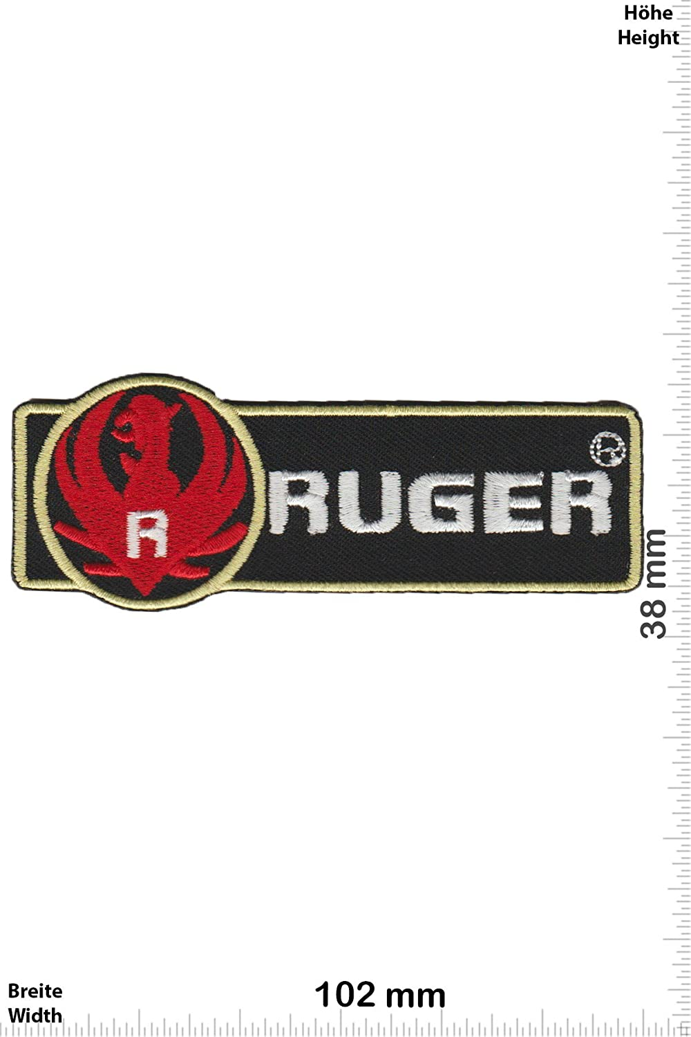 R Patch Ruger Give Away Iron Applique embroidery /Écusson brod/é Costume Cadeau Weapon Ruger