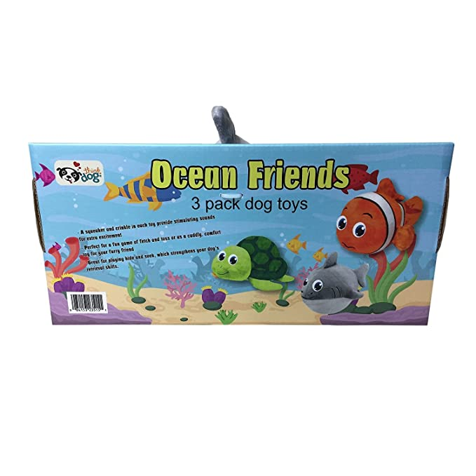 Think Dog Ocean Friends Toy Pack - Box of 3 Toys