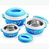 BMS Lifestyle Designer Food Safe Serving Casserole & Gift set of 3 Pcs, Blue