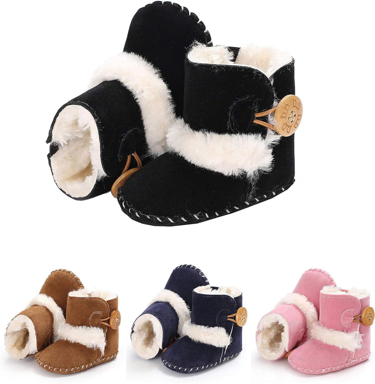 Wine Red 13cm XKSIKjian Fashion Infant Baby Girl Winter Bowknot Anti-Slip Prewalker Toddler Shoes Boot